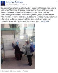 Sebastian Tynkkynen ja niqab
