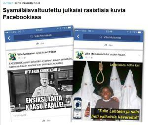 Valtuutetun rasistiset kuvat