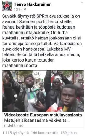 Teuvo Hakkarainen 141115 terrorismista