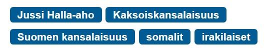 Suomen kansalaisuus tagit