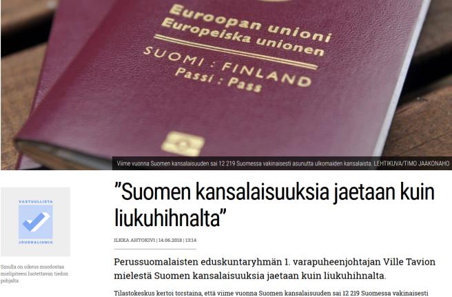 Suomen kansalaisuus Verkkouutiset