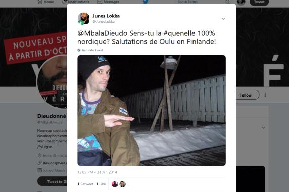 Junes Lokka quenelle twitter