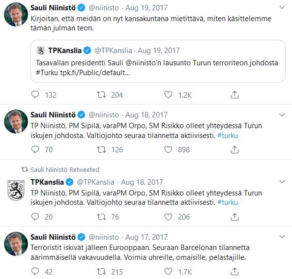 Niinistö ja Turun murhat